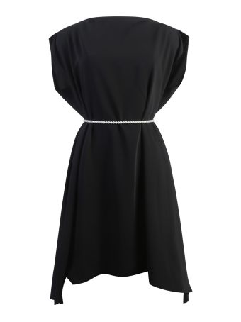 Black Shift Dress With Pearl Detail