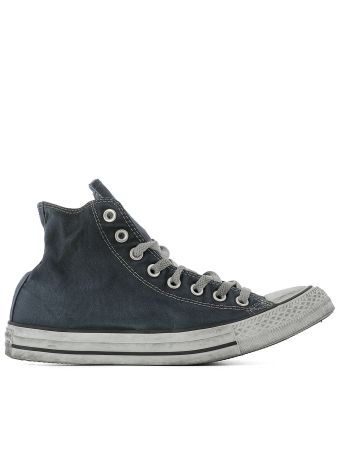 Blue Fabric Sneakers