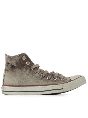 Brown Fabric Sneakers
