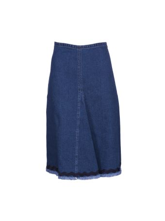 See By Chloé Ric-rac Trim Denim Skirt