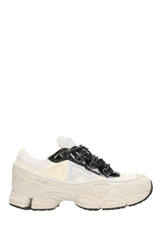 Adidas By Raf Simons Ozweego Iii White Canvas And Leather Sneakers