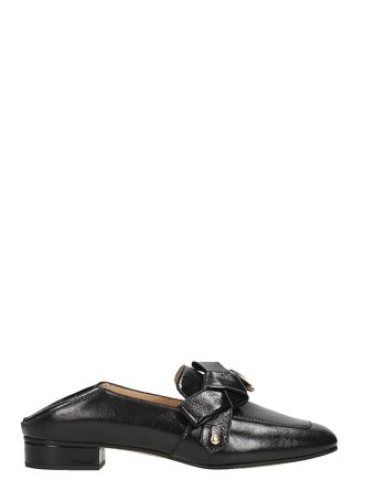 Chloé Black Leather Quincey Loafers