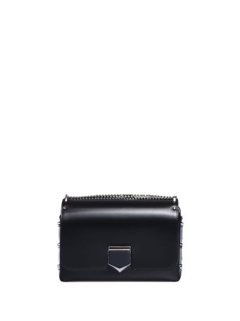 Jimmy Choo Lockett City Black Shoulder Bag