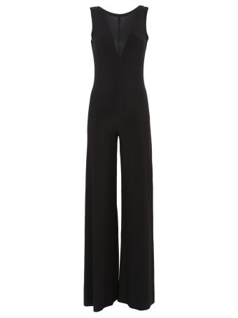 Norma Kamali Sleeveless Low Back Elephant Jumpsuit