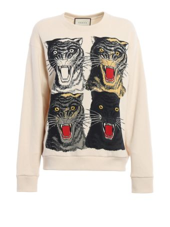 Gucci Tiger Face Oversized Sweatshirt