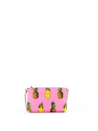 Pink Ananas Print Micro Bag