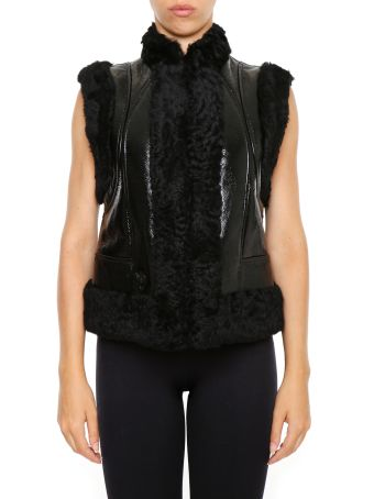 Leather And Patent Vest