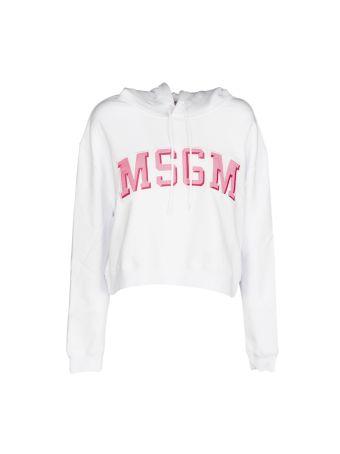 Msgm Cropped Logo Sweatshirt