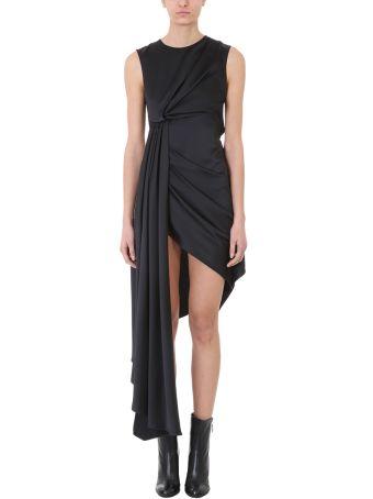 Off-White Asymmetric Draped Dress