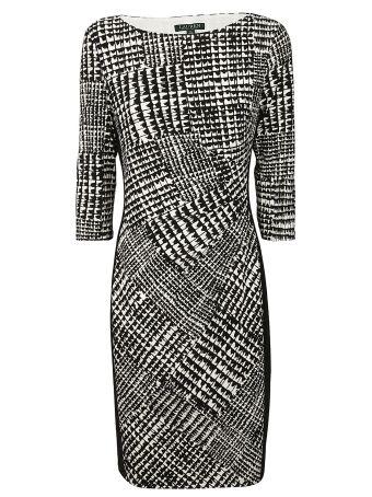 Ralph Lauren Printed Fitted Dress