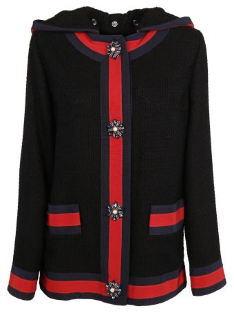 Gucci Hooded Tweed Jacket