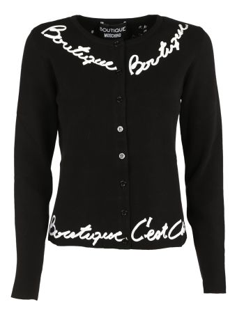Boutique Moschino Embroidered Cardigan