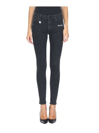 Off-White Denim Cotton Skinny Fit Jeans