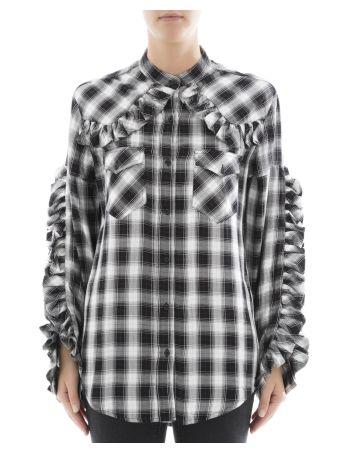 Black And White Viscose Shirt