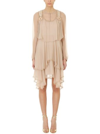 Chloé Tiered Silk Cr?pon Dress