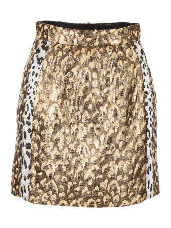 Lurex Jacquard Skirt