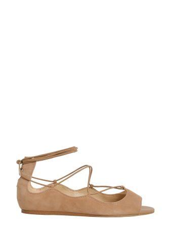 Barbara Peep Toe Flats