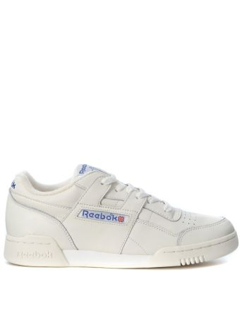 Reebok Workout Plus Vintage White Leather Sneaker