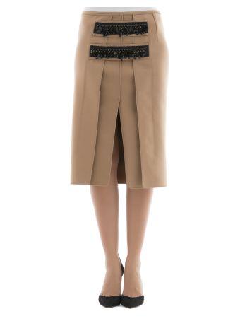 Beige Wool Skirt