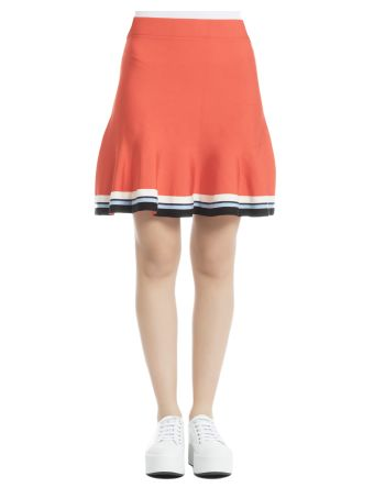 Orange Viscose Skirt