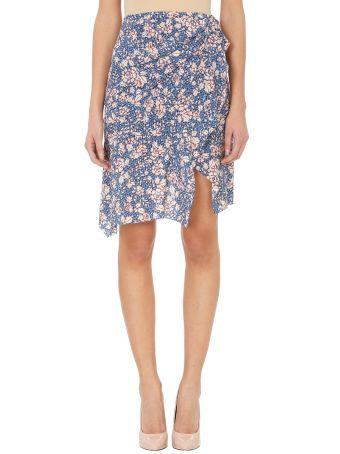 Isabel Marant Becka Floral Silk Blend Skirt