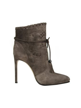 Le Silla Grey Boho Powder Urban Ankle Boots