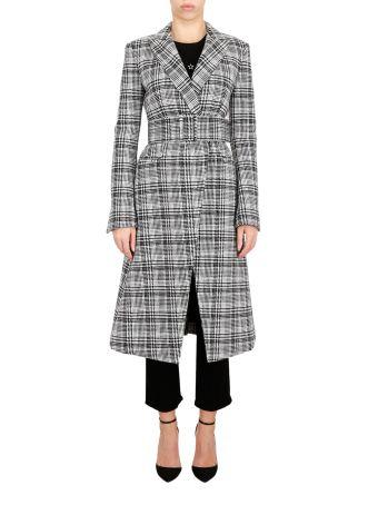 Midi Houndstooth Coat