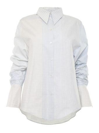 Micro Check Cotton Blouse