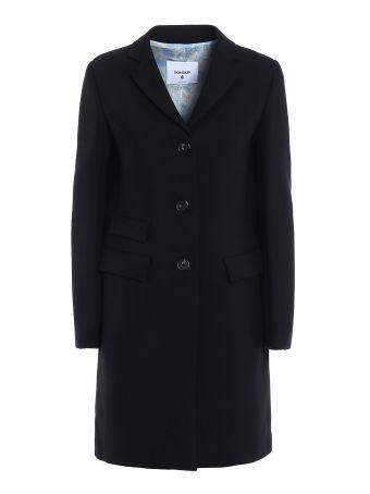 Wool Blend Single-breasted Coat