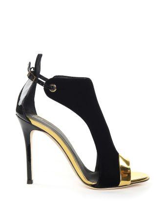 Giuseppe Zanotti Mistico Velvet And Mirrored-leather Sandals