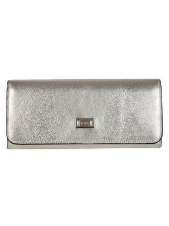 Tod's Metallic Continental Wallet