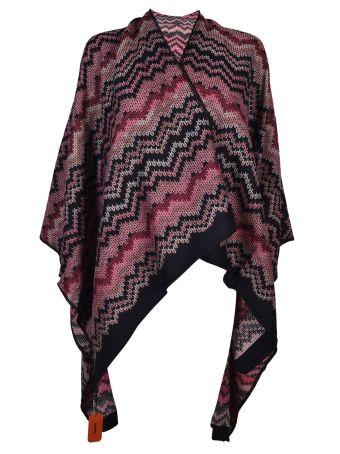 Missoni Chevron-knit Poncho