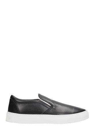 Marcelo Burlon Slip On Black Leather Sneakers