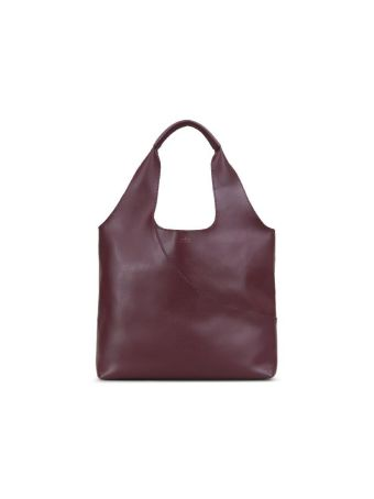 Smooth Leather Shoulder Bag