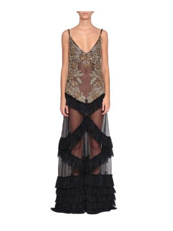 Amen Tulle And Lace Embroidered Dress