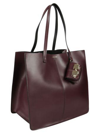 Carven Leather Shopper Bag