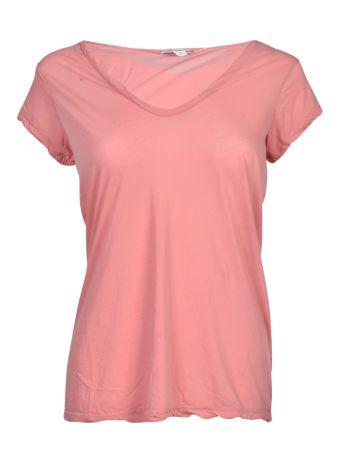 James Perse High Gauge Jersey Deep V-Neck T-Shirt