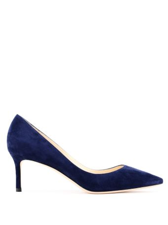 Romy 60 Navy Mid-heel Pumps