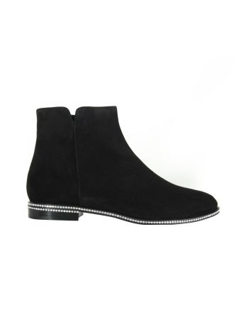 Le Silla Black Lapin Powder Ankle Boots