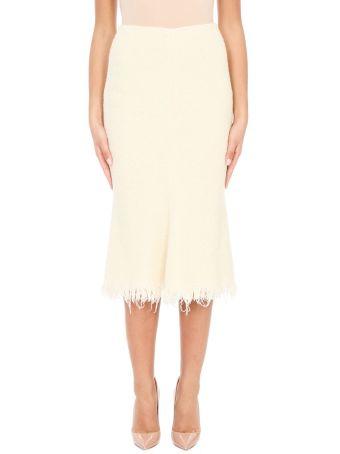 Victoria Beckham Wool And Cotton Skirt
