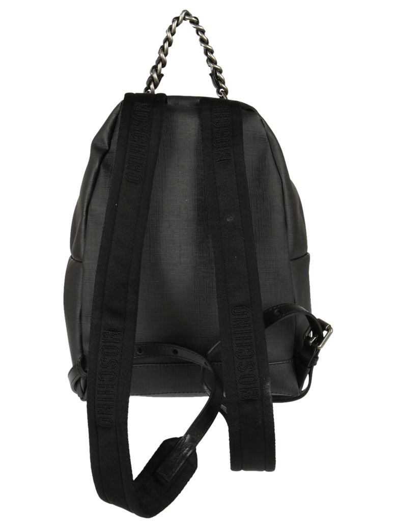 Backpack Transformer Black: MOSCHINO Small Teddy Transformer Backpack, Black