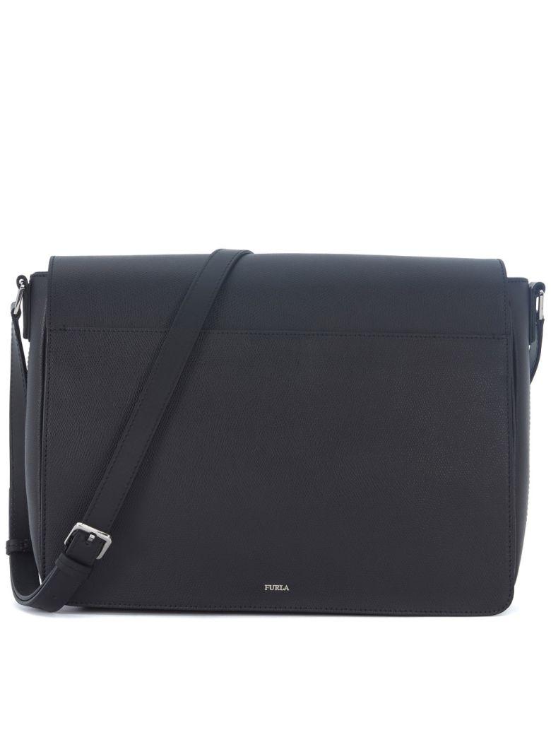 Furla Leathers Furla Messenger Marte Black Leather Shoulder Bag
