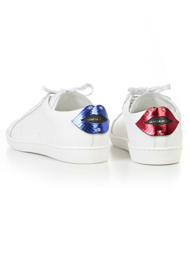 SAINT LAURENT Sneakers in Red Blue Black