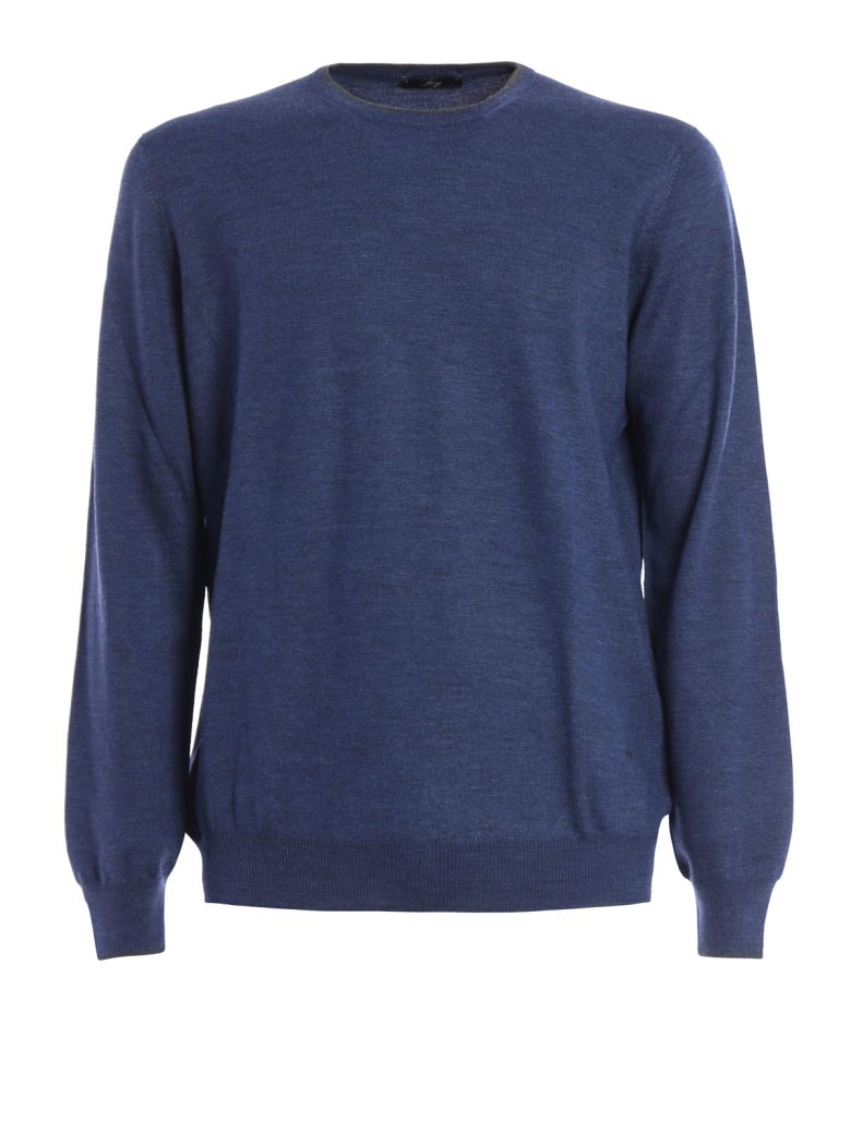 Fay  PATCHES DETAILED WOOL CREWNECK