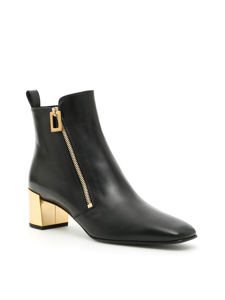 ROGER VIVIER 45Mm Polly Zip-Up Leather Ankle Boots in Black