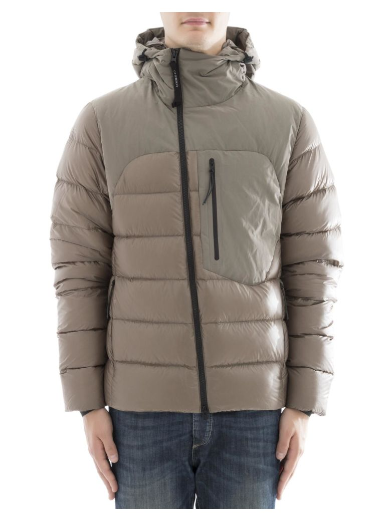 C.P. COMPANY Grey Polyamide Quilled Jacket