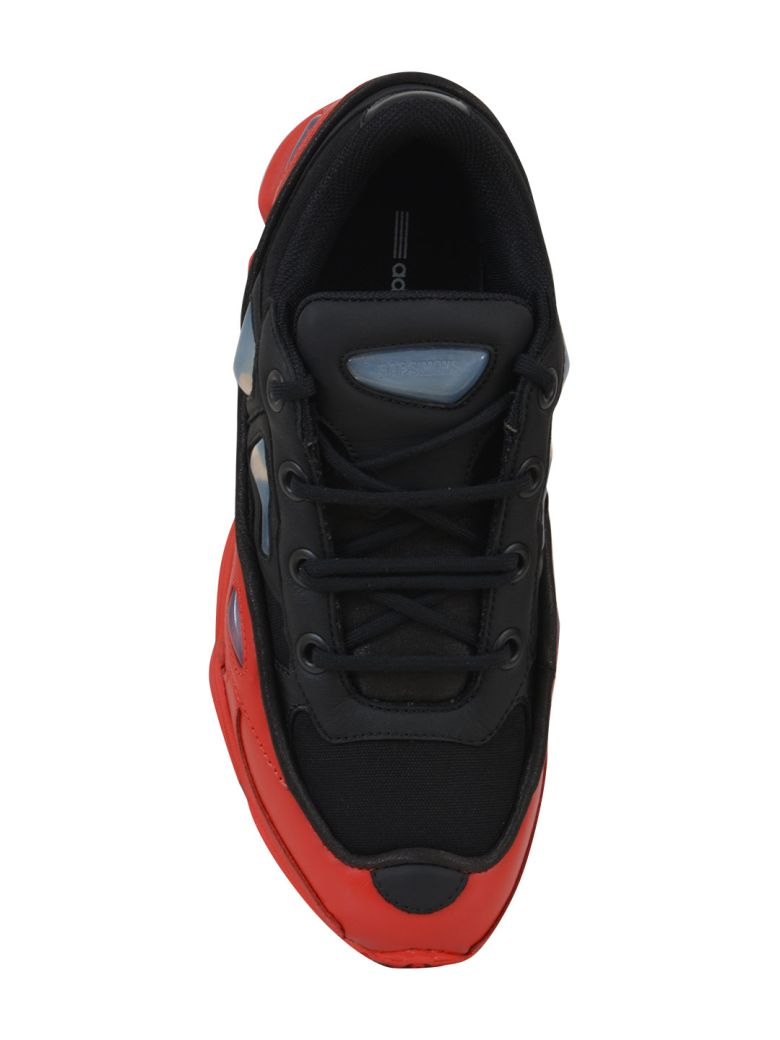 RAF SIMONS Black & Red Adidas Originals Edition Ozweego 3 Sneakers in Black And Red