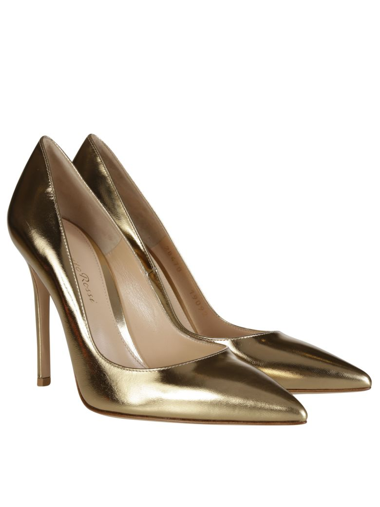 gianvito rossi gianvito rossi leather pumps metallic gold women 39 s high heeled shoes italist. Black Bedroom Furniture Sets. Home Design Ideas