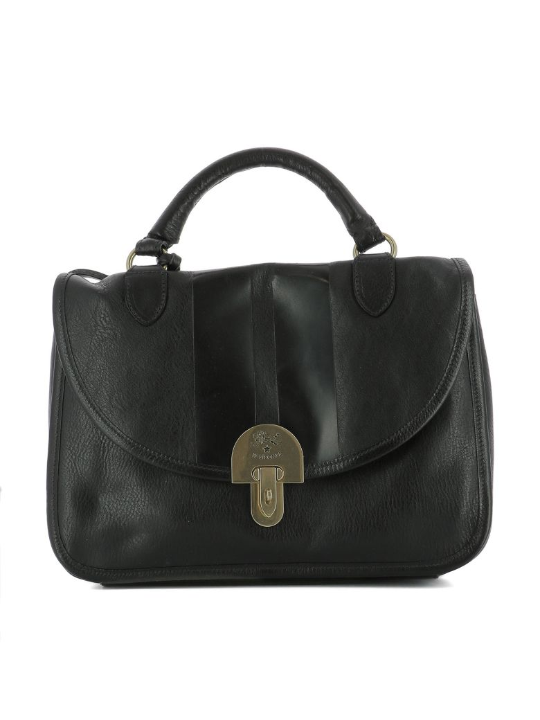 Il Bisonte Black Leather Handle Bag