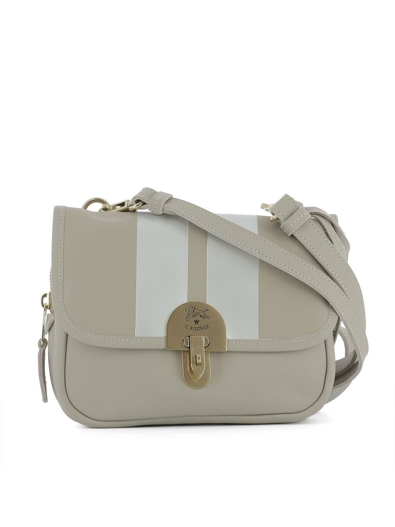 Il Bisonte Beige Leather Shoulder Bag